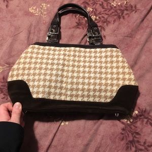 Houndstooth coach bag